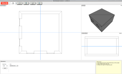 Modello 3D di Archicad in Velux Daylight Visualizer