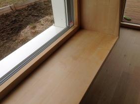 Window bench - #Passivhaus by CreaTerra in #Slovakia.