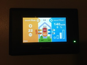 Touch screen for heat pump system - #Passivhaus by CreaTerra in #Slovakia.