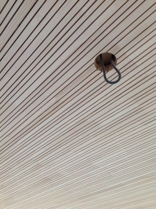 Ceiling finish detail in #Passivhaus in #Slovakia