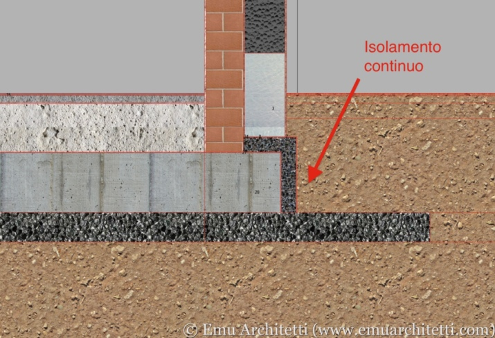 The detail as designed. Arrow pointing to continuous insulation.