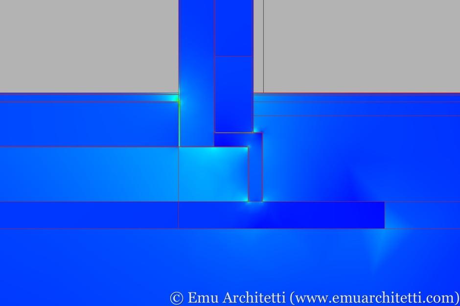 Nodo costruttivo a regola d'arte - flusso termico