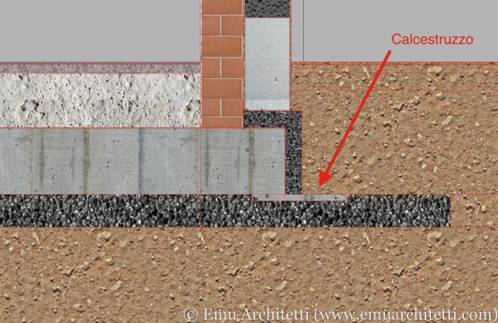 Detail showing the concrete leak.