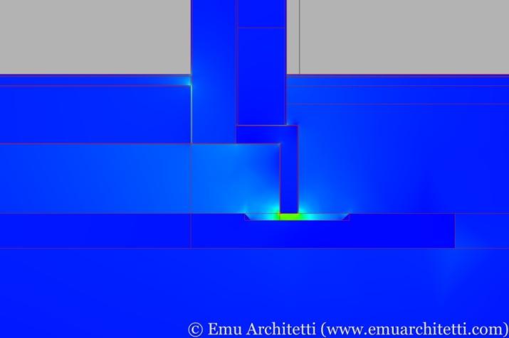Heat flow: notice the concentration through the concrete leak.