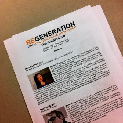 REGENERATION conference program