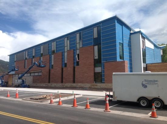 Il cantiere della nuova sede del Rocky Mountain Institute, a Basalt.